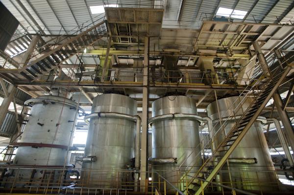 Inside an Oil Palm processing plant, Bintulu, Sarawak, Malaysia